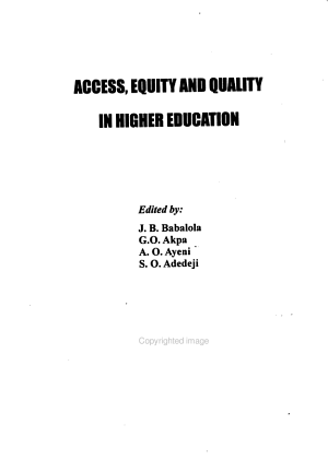 Access  equity and quality in higher education PDF