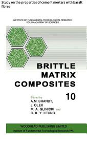 Brittle Matrix Composites: Study on the properties of cement mortars with basalt fibres