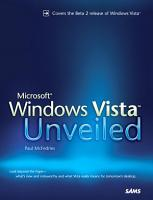 Microsoft Windows Vista Unveiled PDF