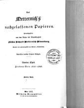 Aus Metternich's nachgelassenen papieren: Band 7