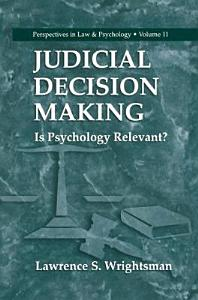 Judicial Decision Making Book