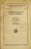 A Bibliography of Plant Genetics PDF