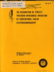 The Recognition of Strictly Posterior Myocardial Infarction by Conventional Scalar Electrocardiography PDF