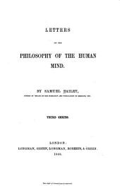 Letters on the Philosophy of the Human Mind: Third Series