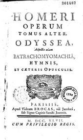 Homeri opera quae extant omnia, graece et latine, duobus tomis divisa