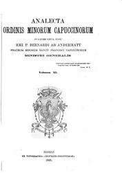 Analecta Ordinis minorum capuccinorum PDF