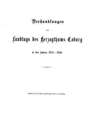 Verhandlungen des Landtags f  r das Herzogthum Coburg PDF