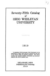 Catalogue of Ohio Wesleyan University for ..., Delaware, Ohio