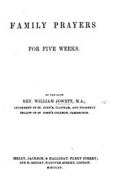 Family Prayers for five Weeks