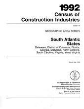 1992 Census of Construction Industries: Geographic area series, Volume 5