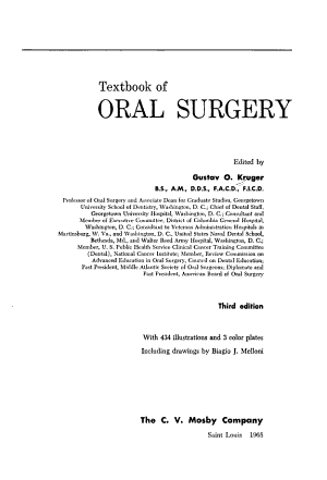 Textbook of Oral Surgery PDF
