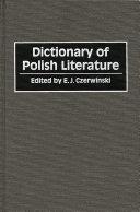 Dictionary of Polish Literature PDF