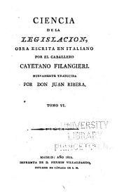 Ciencia de la legislación: Volume 6