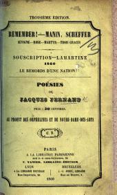 Remember! Manin, Scheffer, Sévigné ... Souscription Lamartine 1860. Le Remords d'une Nation. Poésies de J. F., etc. Troisième édition