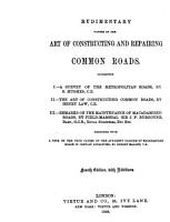 Rudimentary Papers on the Art of Constructing and Repairing Common Roads PDF