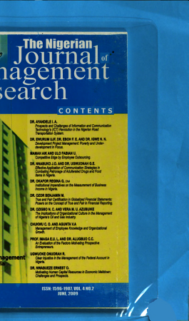 The Nigerian Journal of Management Research PDF