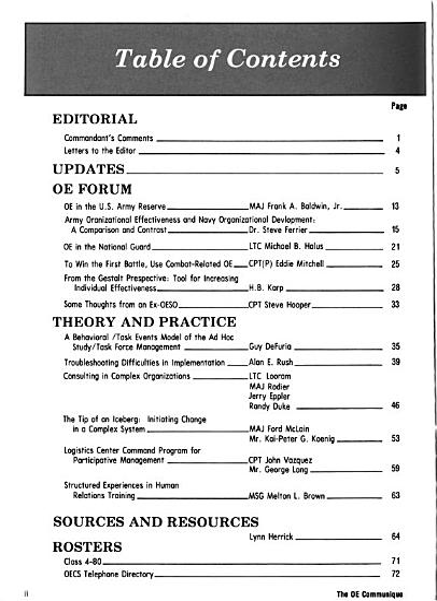 Army Organizational Effectiveness Journal PDF