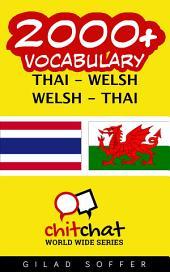 2000+ Thai - Welsh Welsh - Thai Vocabulary