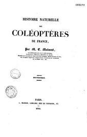 Histoire naturelle des coléoptères de France: Volume11