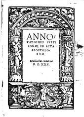 Annotationes in acta apostolorum