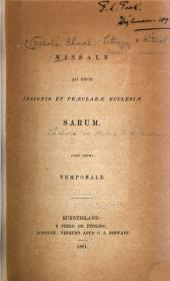 Missale ad usum insignis et praeclarae ecclesiae Sarum: Volume 1