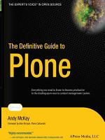 The Definitive Guide to Plone PDF