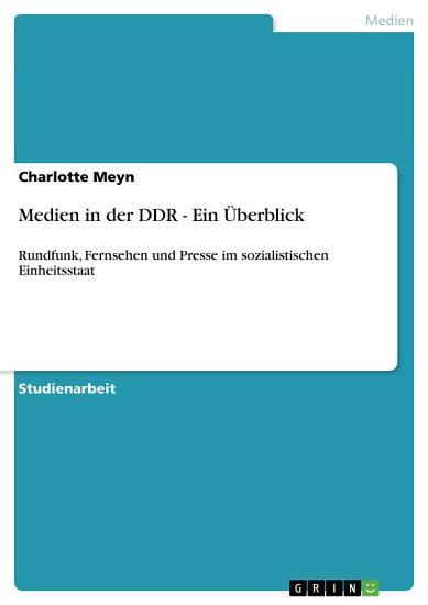 Medien in der DDR   Ein   berblick PDF