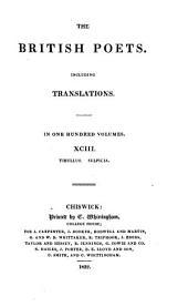 The British Poets: Including Translations ...