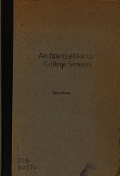 An Open Letter to College Seniors