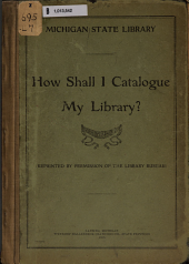 How Shall I Catalog My Library?