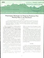 Preemergent herbicides for preparing ponderosa pine planting sites in the Southwest