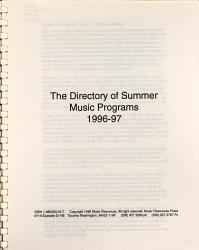 The Directory of Summer Music Programs PDF
