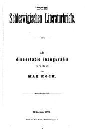 Die Schleswigischen Literaturbriefe