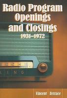 Radio Program Openings and Closings  1931  1972 PDF