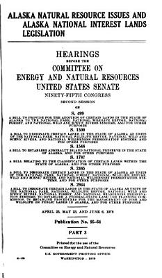 Alaska Natural Resource Issues