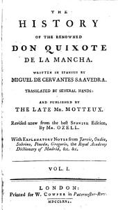 The History of the Renowned Don Quixote de la Mancha: Volume 1