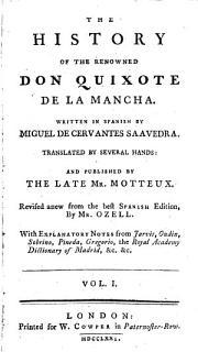 The History of the Renowned Don Quixote de la Mancha Book