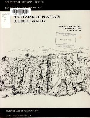 The Pajarito Plateau PDF