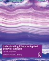 Understanding Ethics in Applied Behavior Analysis PDF
