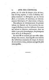Oeuvres complètes de Boileau Despréaux: contenant ses poésies, ses écrits en prose, sa traduction de Longin, ses lettres a Racine, a Brossette, et a diverses autres personnes; avec les Variantes, les textes d'Horace, de Juvénal, etc., imités par Boileau, et des notes historiques et critiques; précédées d'un discours sur les caractères et l'influence des Oeuvres de Boileau et d'une Vie abrégée de ce poëte, Volume1