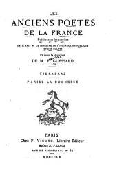 Les anciens poètes de la France: Volume4