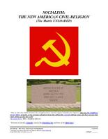 Socialism  The New American Civil Religion  Form  05 016 PDF