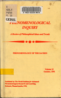Phenomenological Inquiry PDF