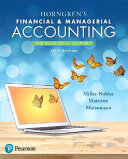 Horngren s Financial   Managerial Accounting Book