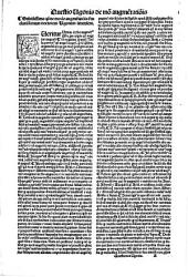 Vgo in primam quarti cum tabula. Consumatissimi artium: & medicine doctoris domini Vgonis senensis in quarti canonis Auicenne Fen primam luculentissima expositio ..