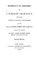 Elements of Rhetoric and Literary Criticism PDF