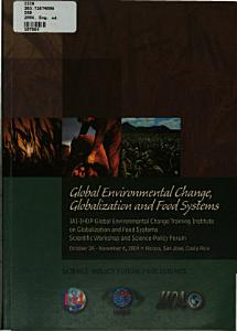 global environmental change  globalization and food systems PDF