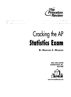 Cracking the AP Statistics Exam Book