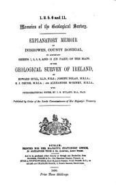 Explanation to Accompany Sheets 1-: Volumes 1-21; Volumes 28-29