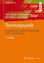 Thermodynamik: Grundlagen und technische Anwendungen Band 1: Einstoffsysteme, Ausgabe 19